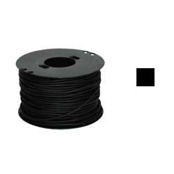 Шнурок каучук квадрат черный 3х3мм