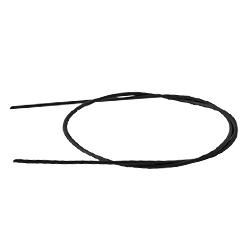 Шнурок кожаный 75 см. Ф 2,5мм, черный