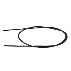 Шнурок кожаный 75 см. Ф 3,0мм, черный